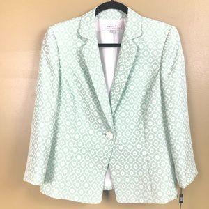 NWT Tahari blazer green floral size 8